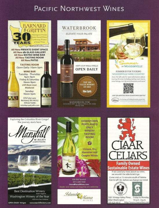 Ad we created for Barnard Griffin to promote the winery's 30th Anniversary and their totally remodeled winery.  Wines of Washington Promotion also created the 30th Anniversary logo.